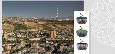 A new Ropeway construction in the city of Yerevan