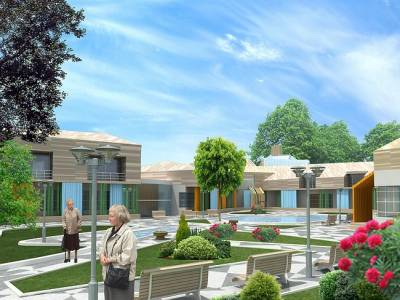 Construction of modern center  for elderly people in Yerevan