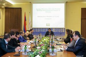 Meeting-discussion of the issues related to energy efficiency increase in Yerevan