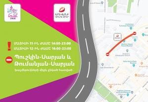 On Ma1 11 and 12 the traffic will be restricted in Saryan street