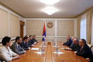 First official visit to Stepanakert: delegation headed by Mayor Hayk Marutyan is in Artsakh