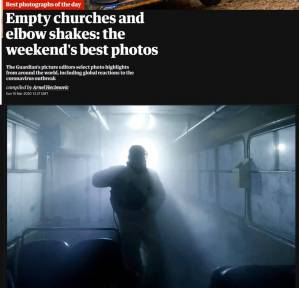 A story of a photo: how the photo of disinfection action of Yerevan transport appeared among best photos of The Guardian
