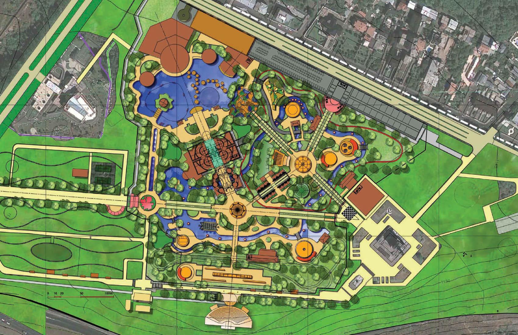 Реставрация и модернизация территории парка