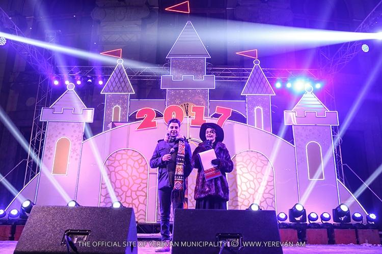 На площади Свободы в Ереване завершились праздничные мероприятия в связи с Новым годом