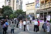 """Yerevan summer 2018"": performance of author singers ""Yerevan bard"" in Charles Aznavour square"