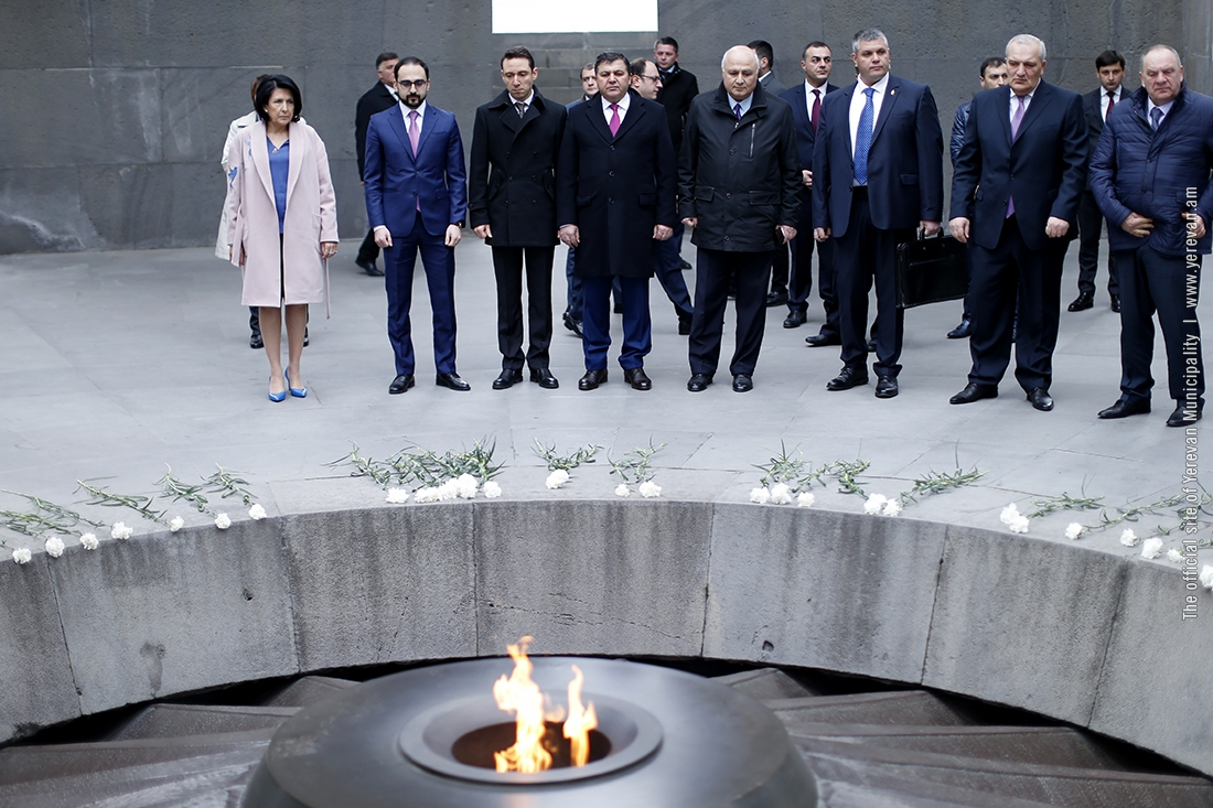 Президент Грузии почтила память жертв геноцида Армян в Турции