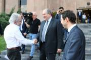 Mayor Hayk Marutyan hosts President Armen Sarkissian